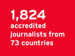 1,824 accredited journalists from 73 countries