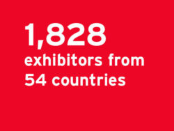 1,828 exhibitors from 54 countries